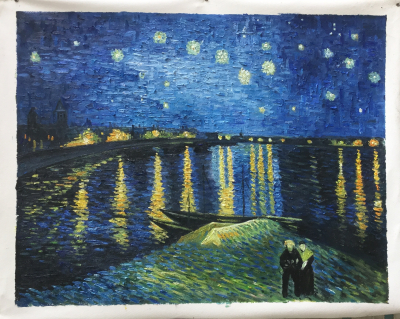 HQ Van Gogh Starry Night Over the Rhone - 72 x 93 cm