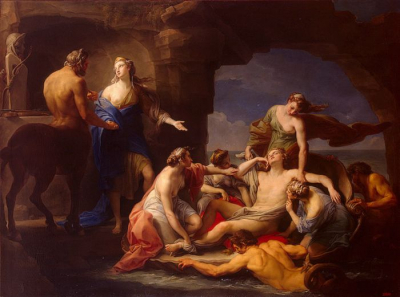 Thetis Takes Achilles from the Centaur Chiron