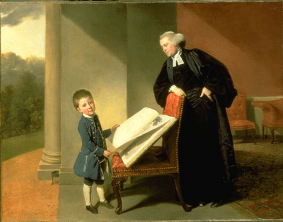 The Reverend Randall Burroughs and his son Ellis