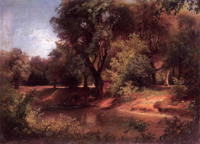 Forest Scene with River