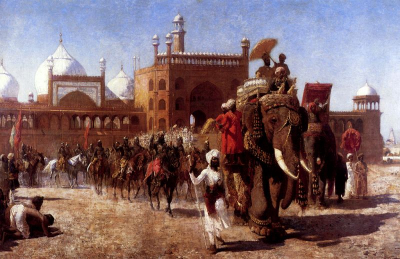 The Return Of The Imperial Court From The Great Nosque At Delhi, In The Reign Of Shah Jehan