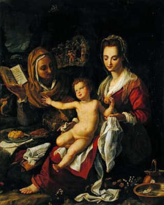 Madonna with Child and St Elisabeth
