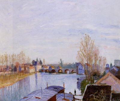 The Loing at Moret, the Laundry Boat