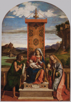 The Madonna and Child with Sts John the Baptist and Mary Magdale