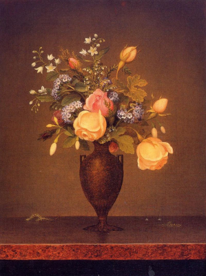 Wildflowers in a Brown Vase
