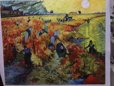 HQ Van Gogh Red Vineyard-75 x 93 cm