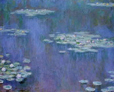 Water Lilies blue