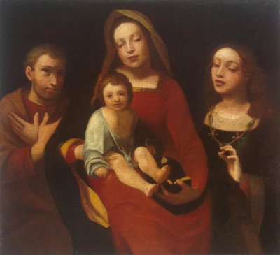 Madonna and Child with Sts Francis and Catherine