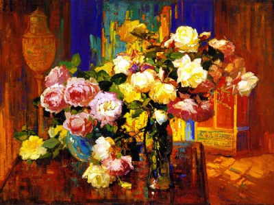 Roses in a aTall Glass