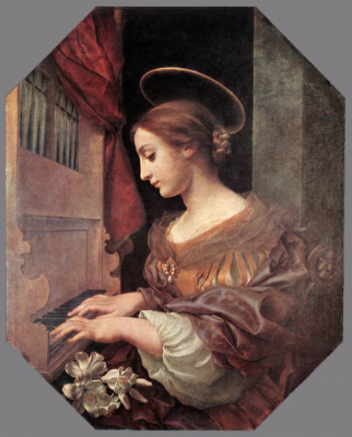 St Cecilia at the Organ