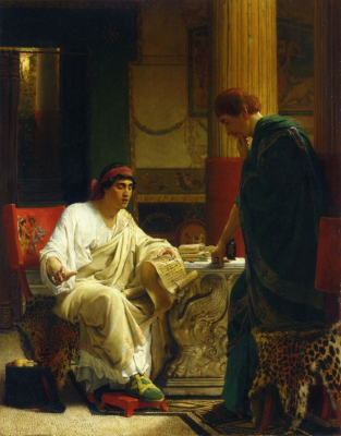 Vespasian Hearing from One of His Generals of the Taking of Jerusalem by Titus