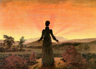Woman in Front of the Setting Sun