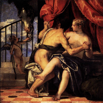 Venus and Mars with Cupid and a Horse