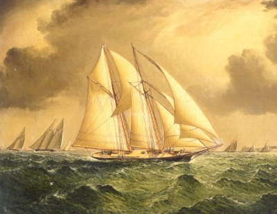 Schooners Racing Off Sandy Hook