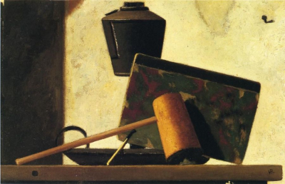 Still Life with Notebook and Pipe