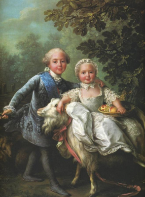 The Comte d'Artois and His Sister