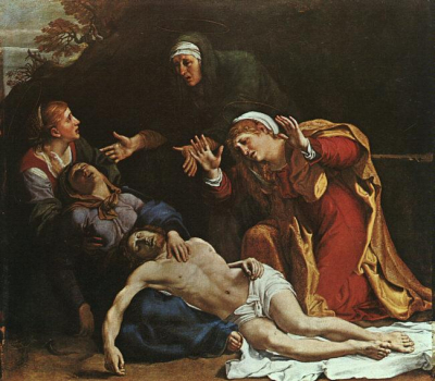 The Dead Christ Mourned