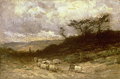 Untitled (shepherd with sheep)