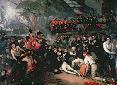 The Death of Lord Nelson on the Deck of the Victory