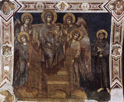 Madonna Enthroned with the Child St Francis and four Angels