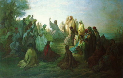 Jesus Preaching on the Mount