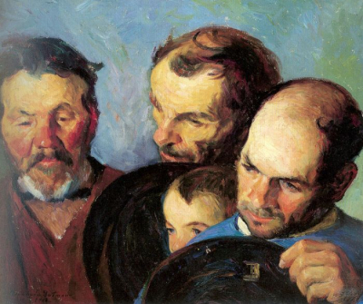 Heads Of Three Men And A Boy