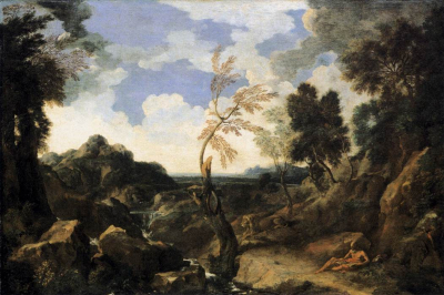 Landscape with St Jerome and the Lion