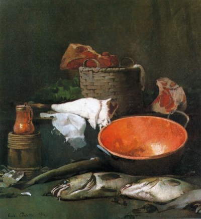 Still Life with Fish and Copper Bowl