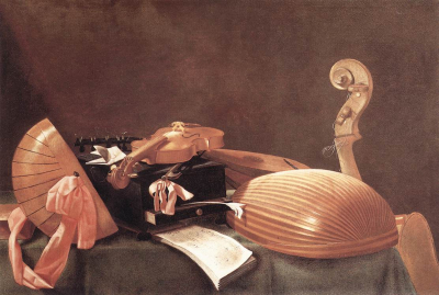 Still-life with Musical Instruments b
