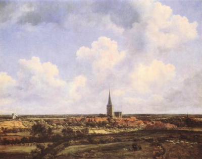 Landscape with Church and Village