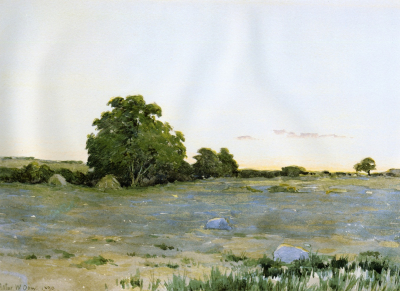 Water Meadows at Sunset 1890