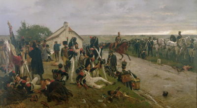 The Morning of The Battle of Waterloo the French Await Napoleon'