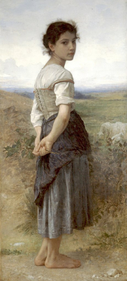 The Young Shepherdess Standing