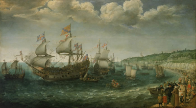 Embarkation of the Elector Palatine in the 'Prince Royal' at Dover
