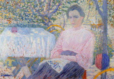 Portrait of Woman Pink