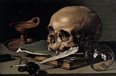 Still Life with a Skull and Writing Quill