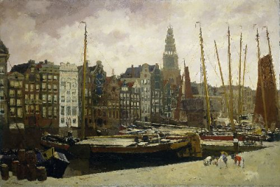 The Damrak in Amsterdam