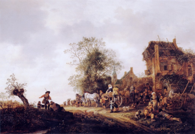 Travellers at a Country Inn