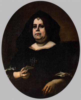 Portrait of Vittoria della Rovere in Widow's Weeds