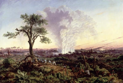 Victoria Falls at Sunrise with The Smoke or Spraycloud 1863