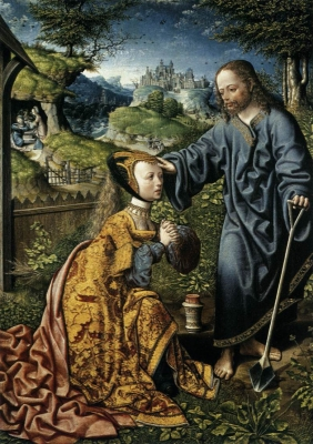 Christ Appearing to Mary Magdalen as a Gardener