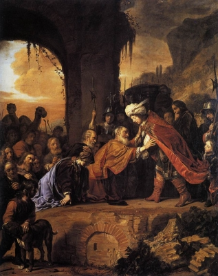 Joseph Receives His Father and Brothers in Egypt