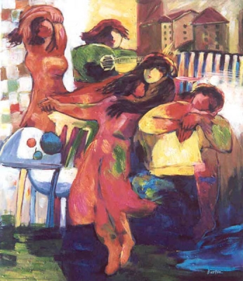 Girls Paintings N058