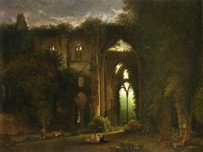 Sketching the Ruins of Tintern Abbey