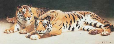 Tiger Paintings N028