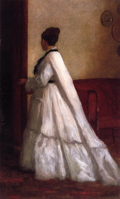 Woman in a White Dress