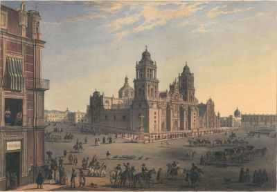 View of the main square of Mexico City
