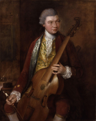 Portrait of the Composer Carl Friedrich Abel with his Viola da Gamba