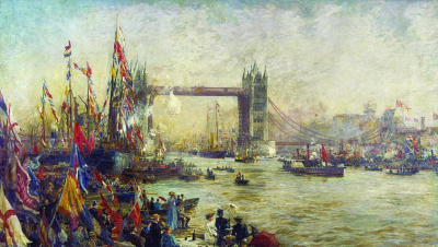 The Opening of Tower Bridge, London