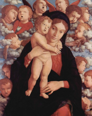 Maria With Child And Angels